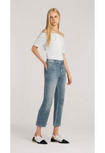 Calca Leboh Straight Cos Intermediario Bolso Relogio Jeans Jeans