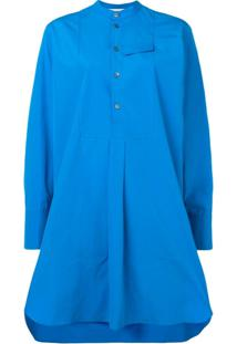 Marni Vestido Com Abotoamento - Azul