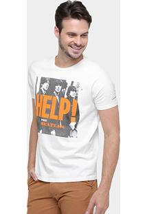 Camiseta Ellus Beatles Help Estonada - Masculino