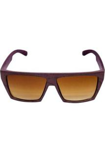 Óculos De Sol Khatto Square Masculino - Masculino-Marrom