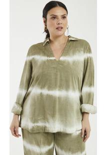 Blusa Com Estampa Tie Dye Curve & Plus Size