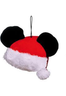 Enfeite Árvore Natal Para Pendurar Gorro Mickey Noel 10Cm