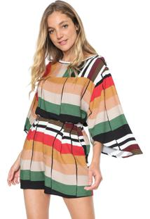 Blusa Forum Color Block Bege/Verde