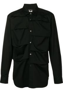 Comme Des Garçons Homme Plus Folded Shirt - Preto