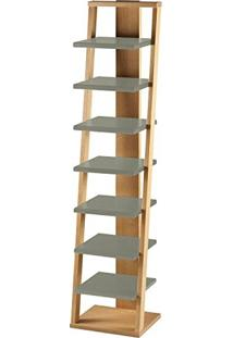 Estante Prateleira Suspensa Stairway Maxima Palha/Cinza