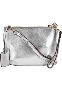 Bolsa Shoestock Mini Bag Transversal Básica Feminina - Feminino-Prata