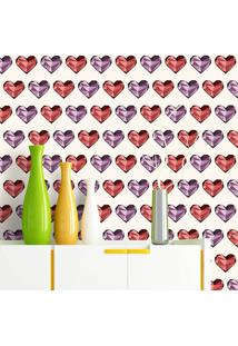Papel De Parede Glass Heart