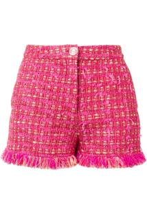 Boutique Moschino Tweed Shorts - Rosa