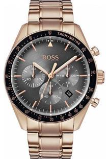 29e07b32fe2 Vivara. Relógio Hugo Boss Masculino Dourado Aço ...