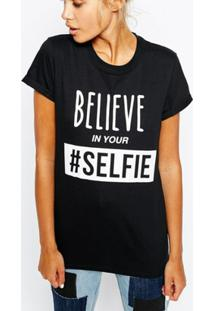 ... Camiseta Criativa Urbana Frases Engraçadas Selfie Nerd Geek - Feminino 87dd2b89261b4