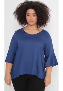 Blusa Texturizada- Azul Marinho- Malweemalwee