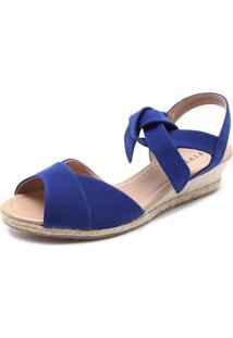 Sandália Fiveblu Anabela Azul