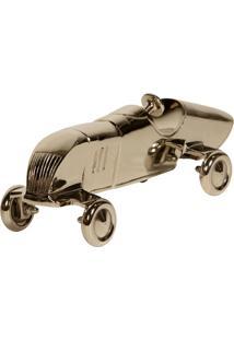 Escultura Decorativa De Metal Carro Race