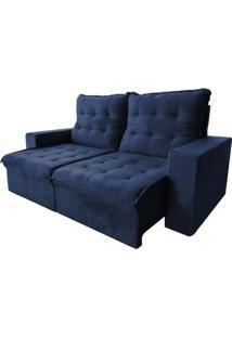 Sofá Mel - Retrátil E Reclinável - Azul - 200Cm