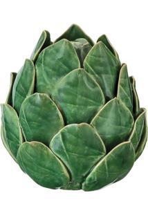 Alcachofra Decorativa Em Cerâmica 11 Cm Verde