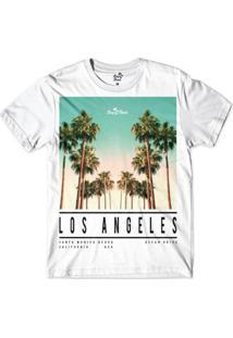 Camiseta Long Beach La Beach Sublimada Masculina - Masculino-Branco