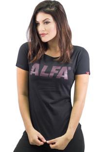 Camiseta Alfa Candy Optical Feminina - Feminino-Chumbo