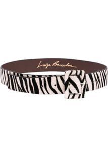 Luiza Barcelos Cinto Em Pelo Zebra