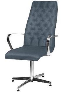 Cadeira De Escritório Presidente Linho Azul