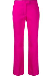 Ps Paul Smith Calça Cropped Slim - Rosa