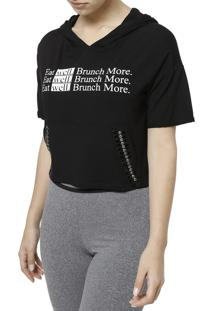 Camiseta Manga Curta Hellen Fashion Preto