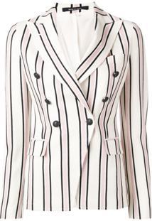 Tagliatore Striped Double-Breasted Blazer - Neutro