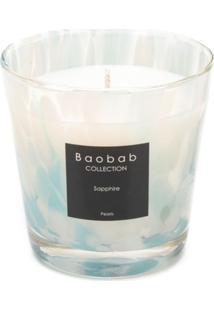 Baobab Collection Vela Aromatizada Sapphire Pearls - Branco
