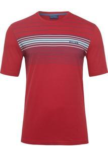 Camiseta Listras Vermelha