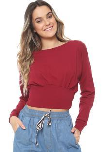 Blusa Cropped Redley Lisa Bordô
