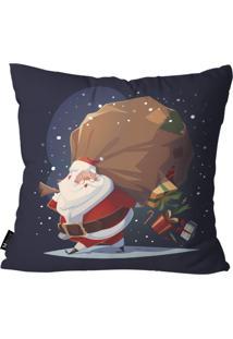 Capa Para Almofada Mdecore Papai Noel Marinho 35X35