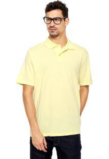 Camisa Polo Malwee Básica Amarela