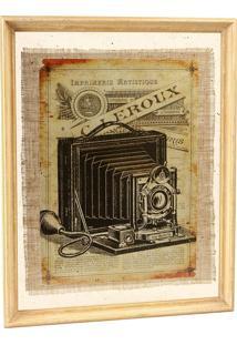 Quadro Decorativo Vintage De Parede Photographie Com Moldura