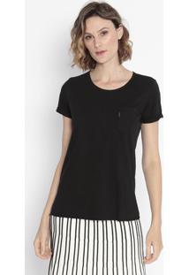 Camiseta Com Bolso - Pretacavalera