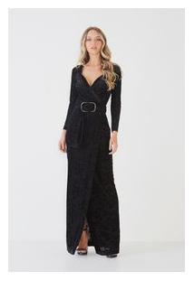 Vestido Devore Black