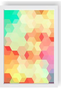 Quadro Love Decor Decorativo Geométrico Quadrados