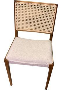 Cadeira Arpoador Mescla Com Tela Cru Base Amendoa - 50759 - Sun House