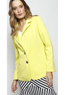 Blazer Com Botões Metálicos- Amarelo Claro- Simple Lsimple Life