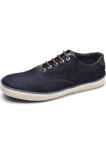 Sapatênis Couro Top Franca Shoes Masculino - Masculino-Marinho