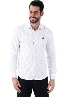 Camisa Casual Masculina Broken Rules - Branco