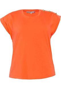 Blusa Almaria Plus Size New Umbi Com Botão Ombro L