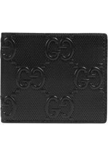 Gucci Carteira Gg Com Gravação - Preto