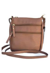 Bolsa Feminina Transversal Shoulder Bag Couro Roma 1450 Nude