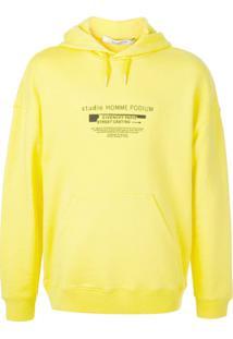 Givenchy Blusa De Moletom Street Casting Com Estampa De Logo - Amarelo