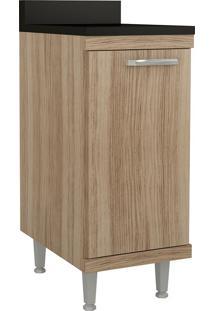 Armário De Cozinha Com Tampo 1 Porta Argila - Multimóveis