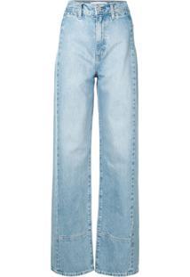 Nobody Denim Calça Jeans Reta Juncture Cintura Alta - Azul
