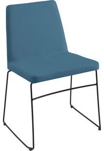 Cadeira Paris Aço T1075 Linho Azul Daf