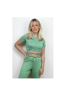 Blusinha Amarração Mafê Verde