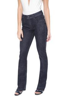 Calça Jeans Lança Perfume Bootcut Desfiada Azul