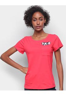 Camiseta Top Moda Boston Terrier Feminina - Feminino-Vermelho