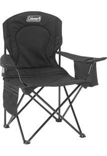 Cadeira Dobrável Com Cooler Térmico E Porta Copo Preta - Coleman